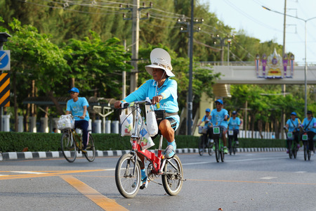 83rd: Bangkok, Thailand - August 16, 2015:Queen Sirikit, Bike for Mom to mark her 83rd birthday. the queen's birthday on 12 August which is also a national holiday and celebrated as Mother's Day in Thailand