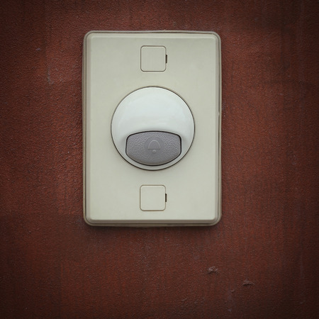 unplugging: electric bell on the wall
