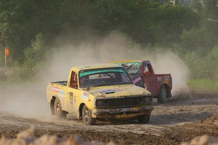 motorcross: Chachoengsao, Thailand - August 12, 2015: JR Tire Thailand Auto Cross Championship 2015 tournaments, Was held at Bang Pakong Circuit, Chachoengsao, Thailand.