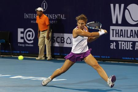 ranked: Hua Hin, Thailand - January 1, 2016: Sara Erraniis ranked 19th in the world. World Tennis Thailand Championship 2016 at True Arena Hua Hin sport club, Prachuap Khiri Khan.