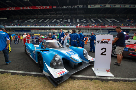 motorsports: Buriram,Thailand - January 10, 2016:  AAI Team Podium race in second position. Round 3 of the 2016 Asian Le Mans Series took place at the Chang International Circuit, in Buriram, Thailand.