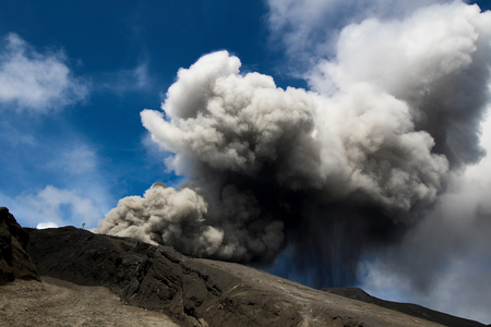 smut: Mount Bromo is an active volcano and part of the Tengger massif, in East Java, Indonesia.