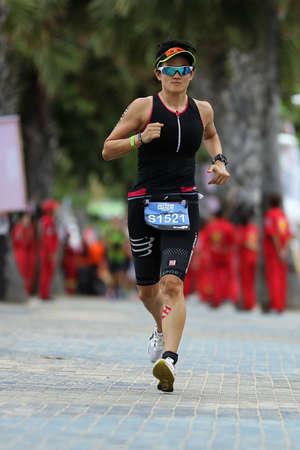 sportsperson: Chonburi, Thailand - May 21, 2016: Pattaya Triathlon Super Series 2016 event at Pattaya beach in Chonburi. Editorial