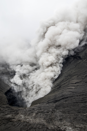 active volcano: Mount Bromo is an active volcano and part of the Tengger massif, in East Java, Indonesia.
