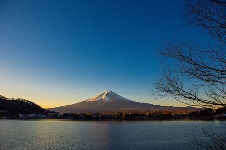 Fujisan in the winter Foto de archivo