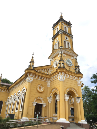 josep: St. Joseph church in Ayuttaya, Thailand Stock Photo