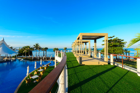 pool rooms: swimming pool near beach,Pattya Thailand Editorial