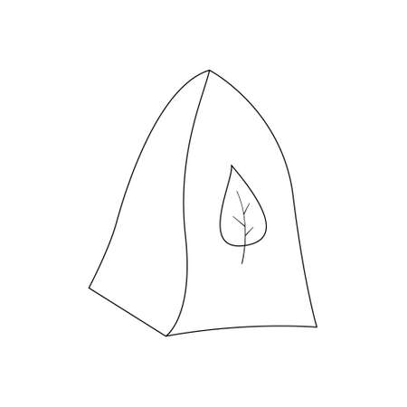 Bell shaped felt hat for use in the sauna or steam room. Heatstroke protection. Contour black and white isolated illustrations in doodle style on a white background.