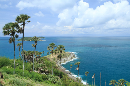 Laem Phrom Thep, Phuket, South of thailand and blue sky and sea