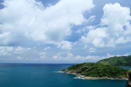 thep: Laem Phrom Thep, Phuket, South of thailand and blue sky and sea