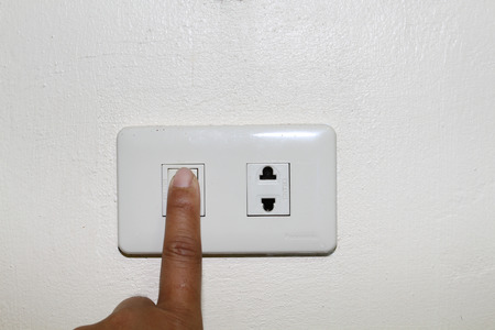 environmental issue: Light switch on and off