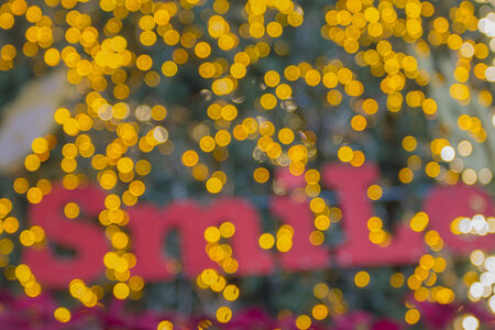 say hello: Say hello and smile for 2015 Happy New Year Bokeh Stock Photo