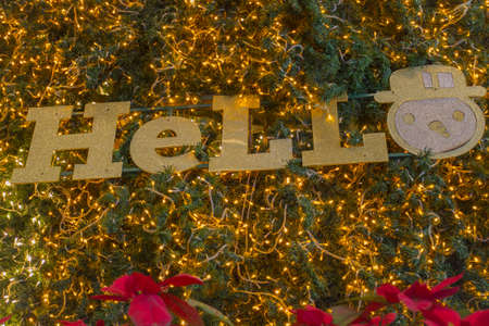 say hello: Say hello and smile for 2015 Happy New Year Bokeh Abstract Background