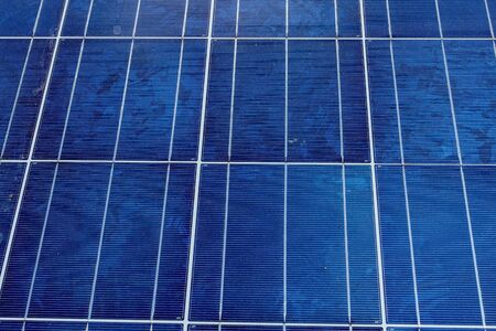 silicium: Solar panels or solar cell close up