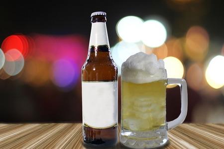 unbottled: Glass of light beer