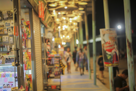 local supply: local market and supermarketmall blur for background and shopping