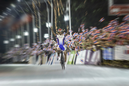 accelerated: blurry Asian Cycling Championship during the race for background