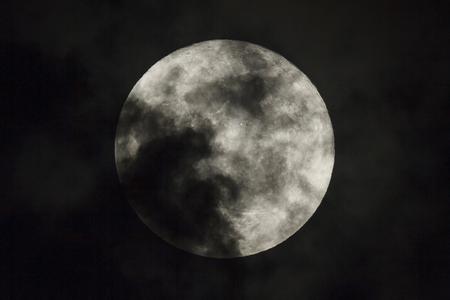 dark night: Full moon on the dark night