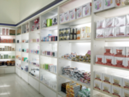 #63996035   Blurry Medicine Cabinet And Store Medicine And Pharmacy  Drugstore For Background