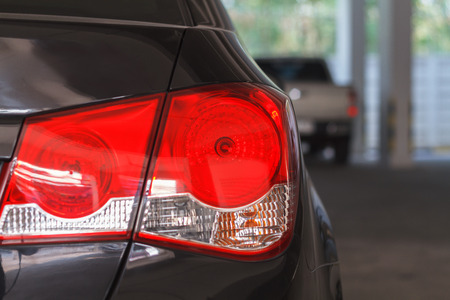 taillight: close up the taillight and Car lights