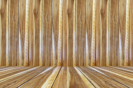 wood wall and wood floor interior and background texture