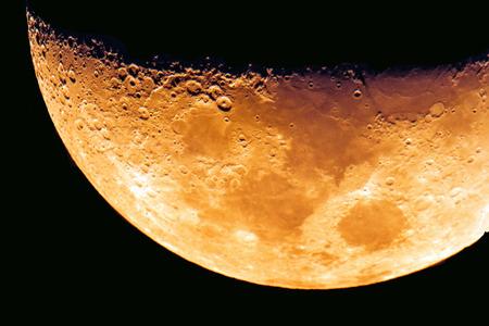 dark night: moon on the dark night