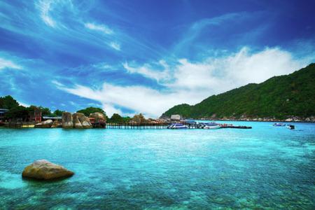 blurry of View of Nang Yuan island Thailand Zdjęcie Seryjne