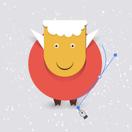 new year sheep Vector