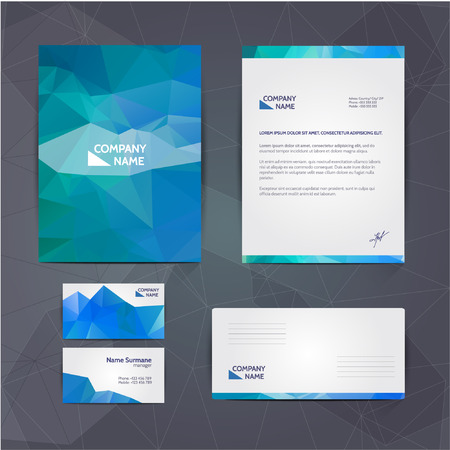 Corporate identity business set design. Abstract background Vector illustration