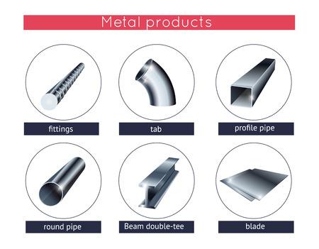 rejas de hierro: Laminado de metal fijaron Vectores
