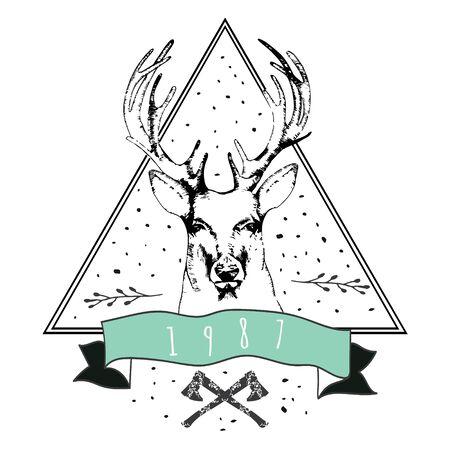 �deer: Estimado logo vintage