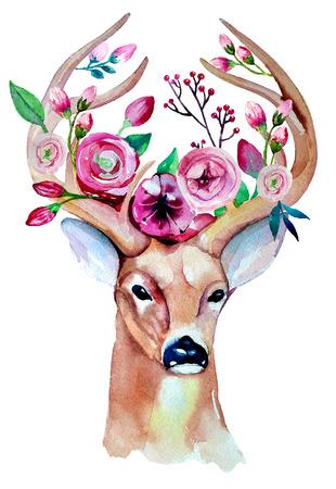 venado: Eco ilustraci�n inconformista estilo