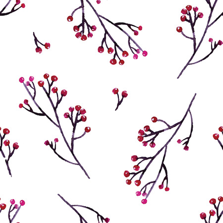 dry flowers: Seamless hand illustrated floral pattern