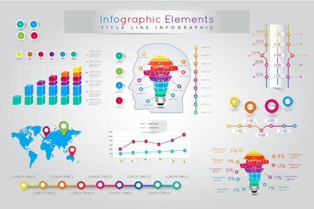 communication concept: Infographic Elements and Communication Concept Illustration