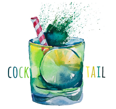 Hand drawn mojito illustration