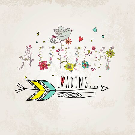dingbat floral elements of vintage prase utumn is loading in vector quotes flower