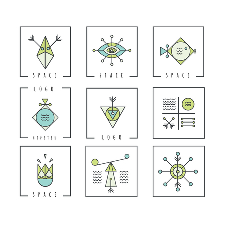 illuminati: Line shapes geometry. Alchemy, religion, philosophy, spirituality, hipster symbols and elements. polygon style with geometric shapes. Hipster and retro style. Perfect for your business design. Illustration