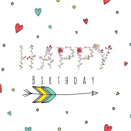 dingbat: Floral elements of vintage. Quotes flower design. illustration isolated on white. Design for T-shirt, invitation, wedding card.