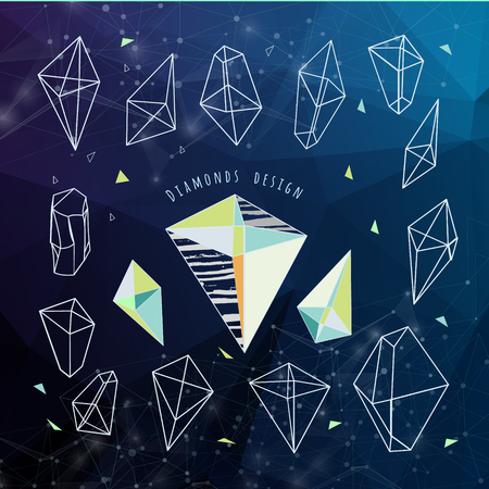 cian: Abstract polygonal background. Low poly design with connecting dots and lines. Connection structure. Polygonal background. Futuristic design. Illustration