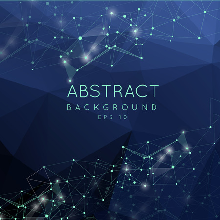 cian: Abstract polygonal background. Low poly design with connecting dots and lines. Connection structure. Futuristic design.