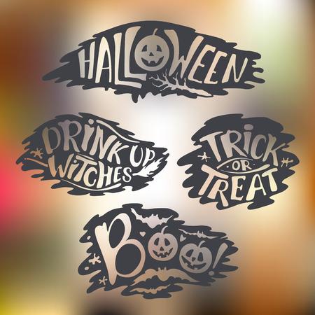 Happy Halloween Calligraphy banner.