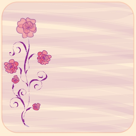 Invitation floral card