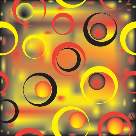Seamless colorful geometric abstract pattern with circles Vector