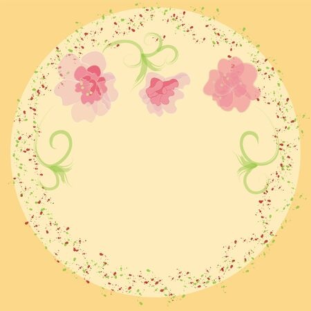 Invitation card with floral elements Vector