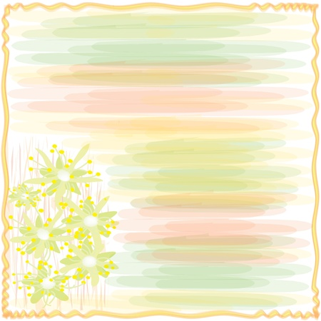 Invitation floral card in watercolor design Vector
