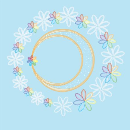 Invitational colorful  card with wedding rings Vector