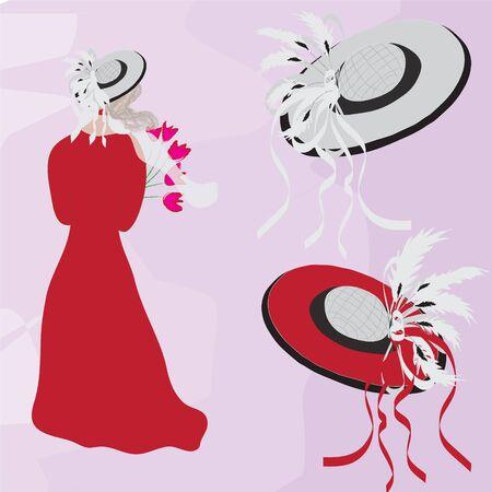Deux chapeaux branché et fashion femme
