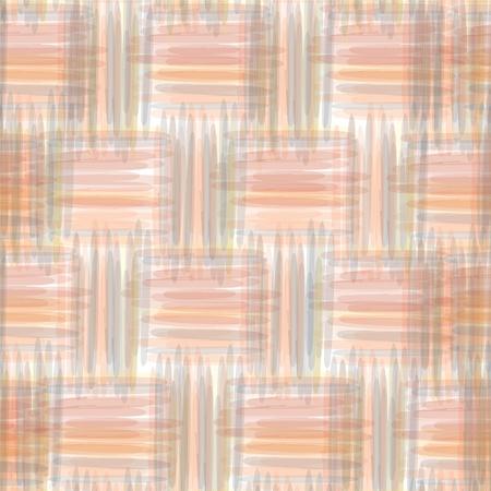 fascia: Seamless geometric pattern with grunge watercolor stripes Illustration