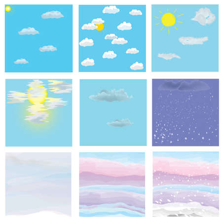 Cloudy sky icons set Stock Vector - 11376825