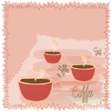 Coffee card menu design Vector